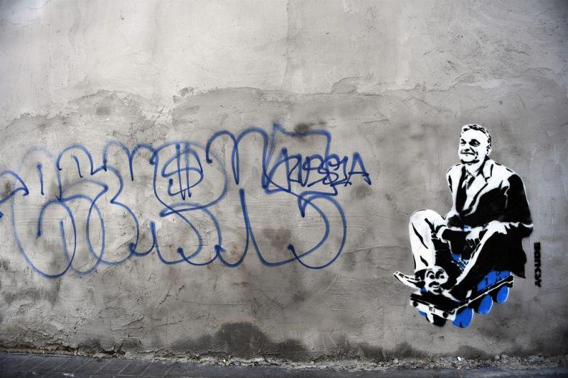 Nem Banksy követte el az Orbán-graffitit, hanem az MKKP