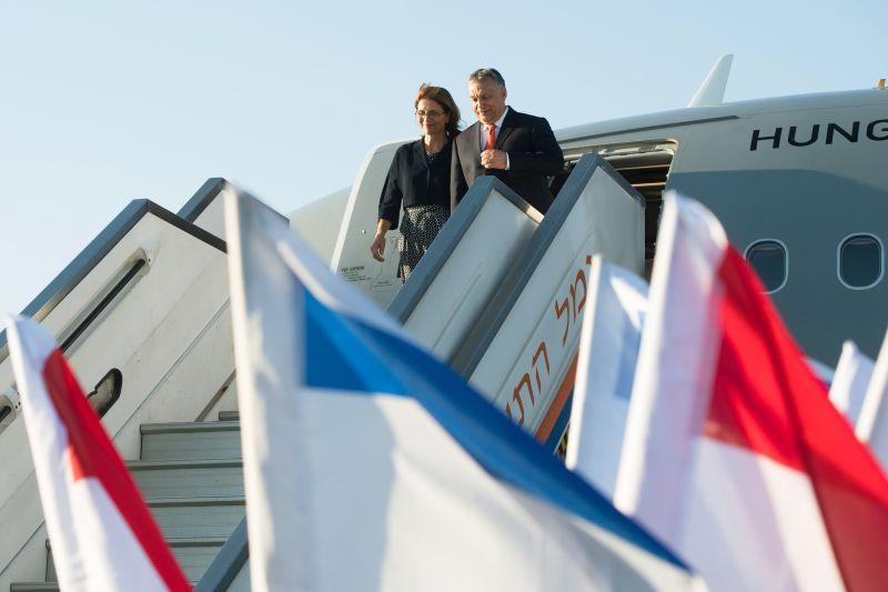 Így érkezett meg Orbán Viktor Izraelbe