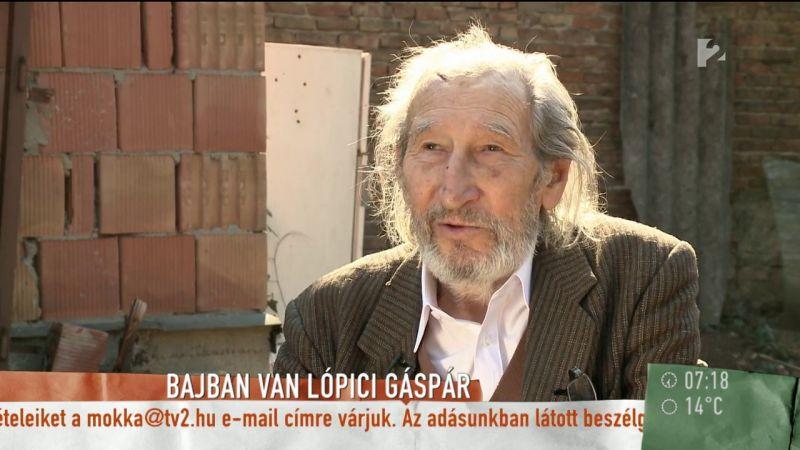 Lópici Gáspár nyolcvan évesen az utcára kerülhet