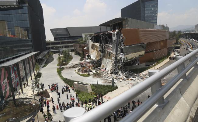 Összeomlott a frissen elkészült mexikói bevásárlóközpont