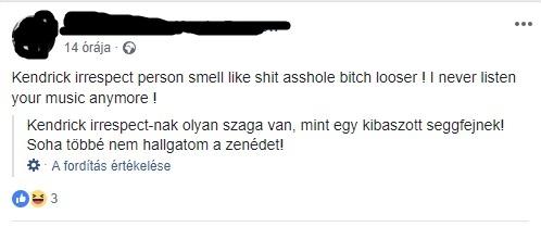 Facebookon szidják a magyar rajongók Kendrick Lamart