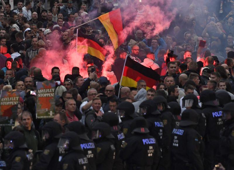 Merkel elítélte a chemnitzi tüntetéseken történt erőszakos cselekményeket