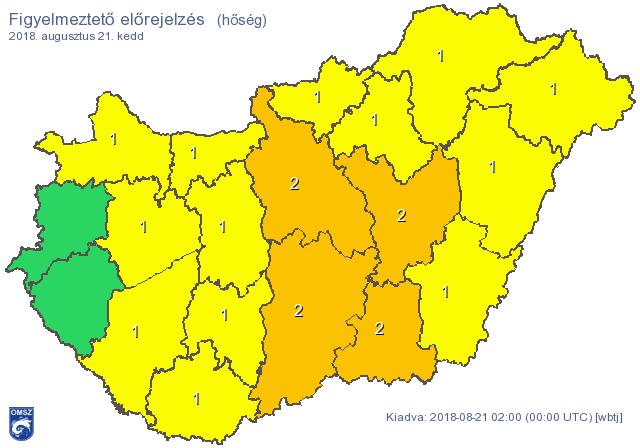 Perzselő hőség lesz az ország középső részén