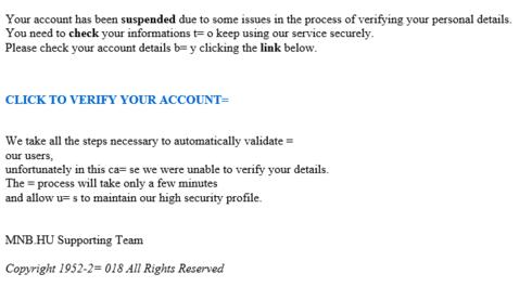 Megmutatjuk: így néz ki a csaló biztonsági levél, amit a Nemzeti Bank nevében küldenek
