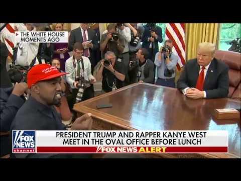 Kanye West rapper a Fehér Házban vendégeskedett Donald Trumpnál