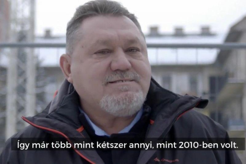 Minimálbéresként dicsérte a kormányt a reklámban a milliomos fideszes vállalkozó