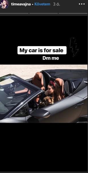 Vajna Tímea árulja Lamborghinijét, és diákmunkásokat keres a fánkozójába