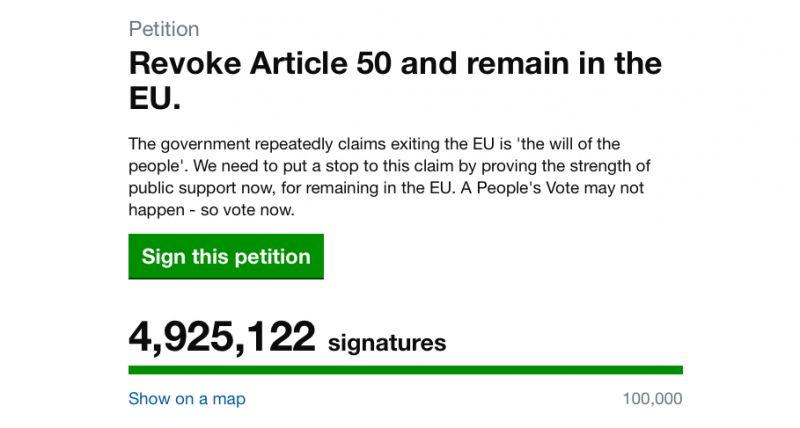 Közel ötmillióan tiltakoznak már a Brexit ellen