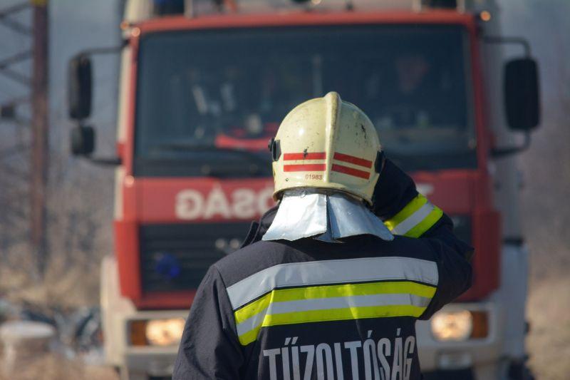 Két utcát is elöntött a patak Bakonycsernyén, tűzoltók mentik az értékeket