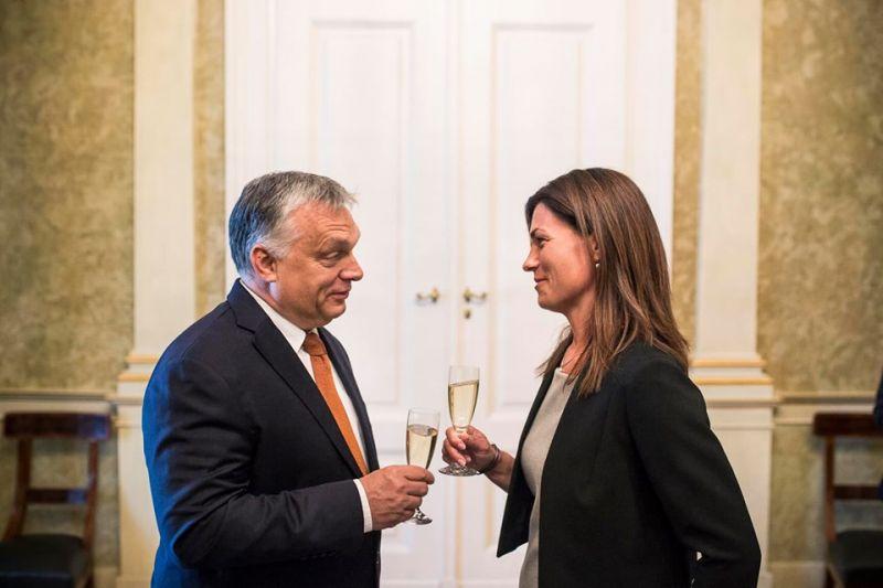Focis utalással üdvözölte csapatában Varga Juditot Orbán Viktor