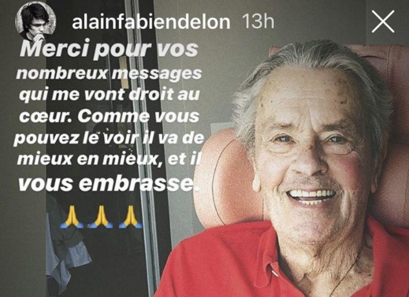 Rajongóinak üzent agyvérzése után Alain Delon
