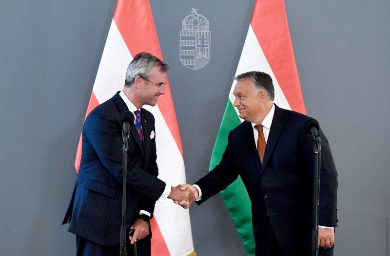 Orbán fogadta az osztrák szélsőjöbb vezetőjét – és elmondta, milyen kormányt akar Bécsbe