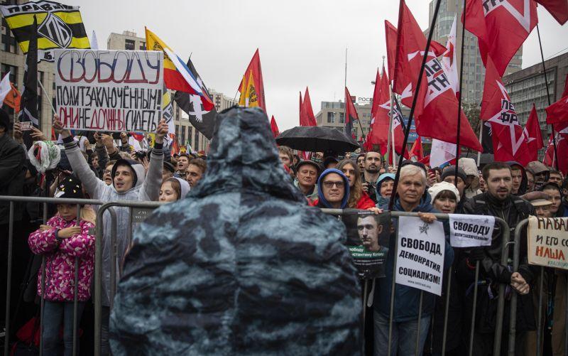 Moszkva szerint a tüntetések zavargások, és amerikaiak szervezték azokat