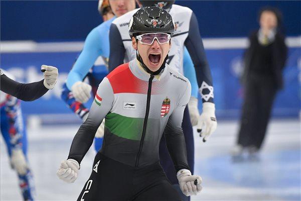 Liu Shaoang aranyérmes a debreceni rövidpályás gyorskorcsolya Eb-n