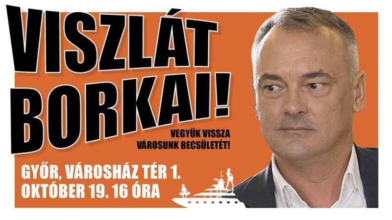 Tüntetés lesz Győrben Borkai lemondásáért