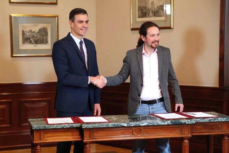 Baloldali, koalíciós kormány alakul Spanyolországban