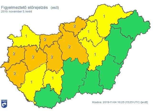 Zivatar és özönvíz közeledik, narancssárga veszélyjelzést adott ki a meteorológiai szolgálat