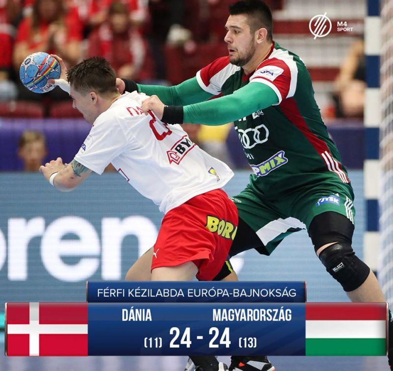 Bravúros eredményt ért el a világbajnok dánok ellen a magyar férfi kézilabda-válogatott