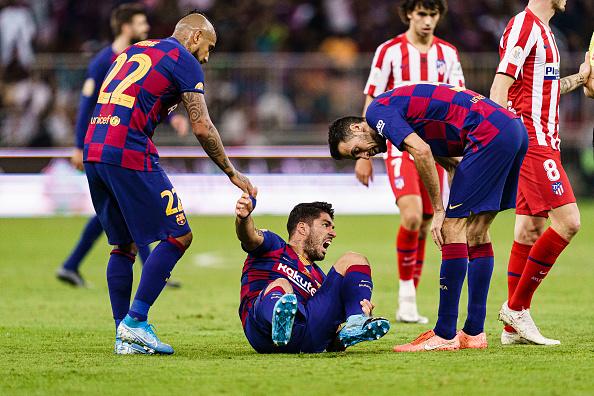 A Barcelona négy hónapra elvesztette Suarezt