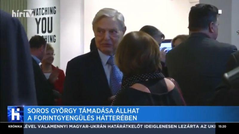 A Hír TV szerint Soros György szándékosan gyengíti a forintot