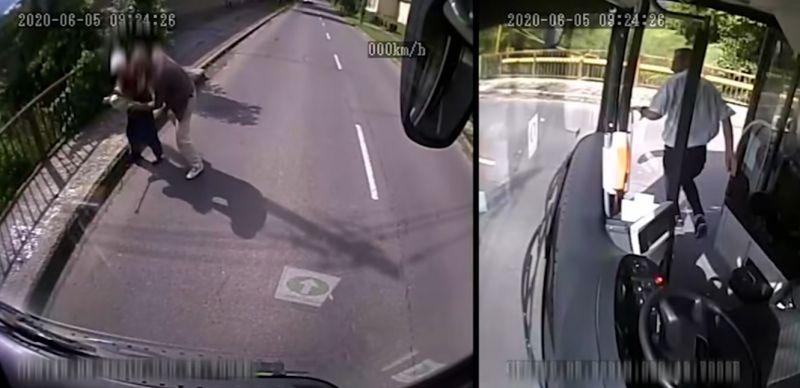Mint egy szuperhős: leugrott a buszról a miskolci buszsofőr, hogy elkergessen egy idős nénire támadó rablót – VIDEÓ