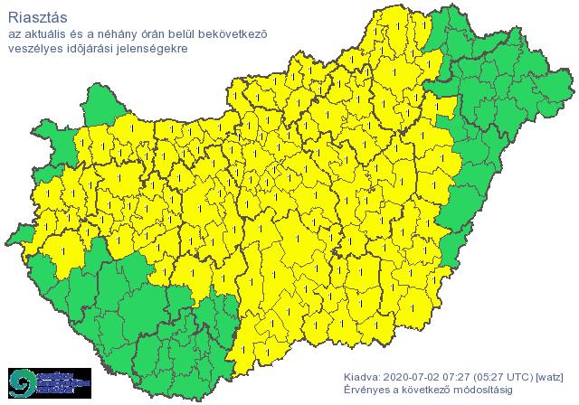 Lassan az egész országot elfoglalja a citromsárga riasztás: itt törhet ki rövidesen a vihar