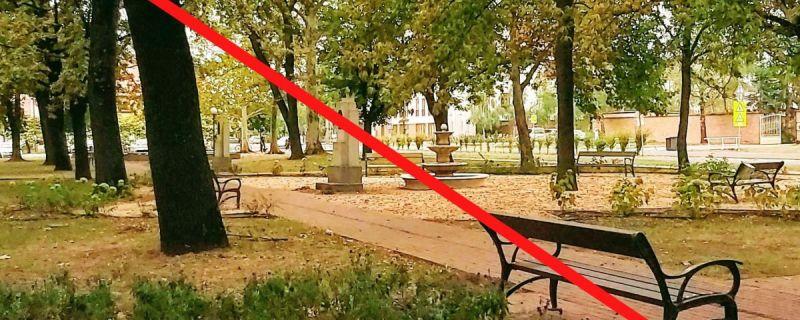Szétszerelik a köztéri padokat Sándorfalván, hátha így kevésbé terjed a vírus