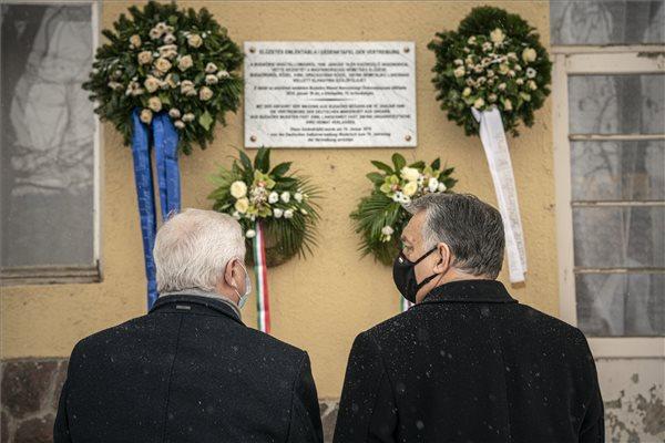 Orbán Viktor a magyarországi németek elűzetésének 75. évfordulójáról emlékezett meg – fotó