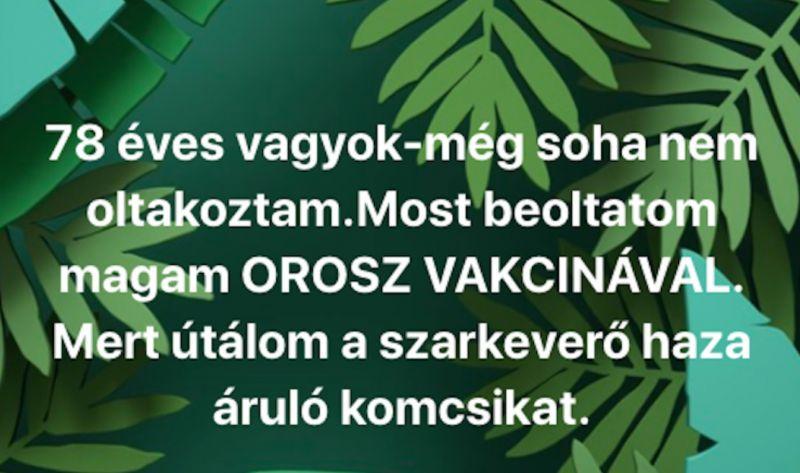 """""""Útálom a szarkeverő hazaáruló komcsikat"""" írta a volt falusi TSz-elnök a vakcina kapcsán"""