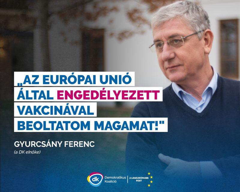 Gyurcsány Ferenc elmondta melyik vakcinával oltatja be magát