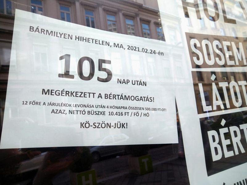 Nevetséges: 3,5 hónap után megérkezett, és fejenként havi 10 ezer forintra jön ki az állami bértámogatás