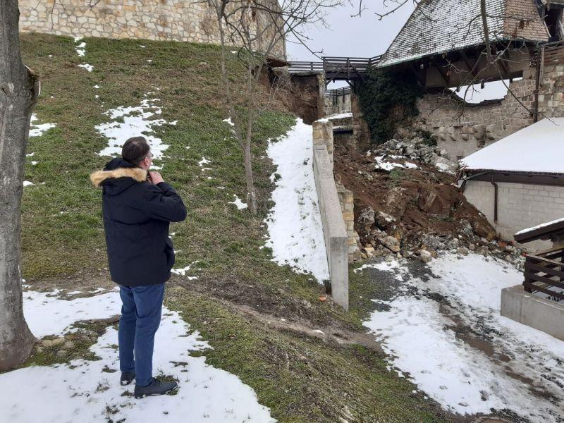 Kormányzati segítséget kér Eger a vár leomlott támfalszakaszának helyreállítására
