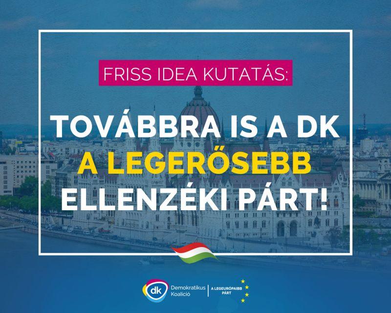 Gyurcsány: Továbbra is a DK a legerősebb ellenzéki párt