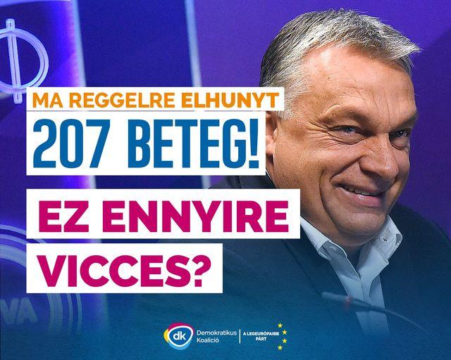 """""""Mi ilyen vicces, miniszterelnök úr, képes 26 ezer elhunyt magyar után röhögcsélve beszélni?"""" – Gyurcsány keményen beszólt Orbánnak"""