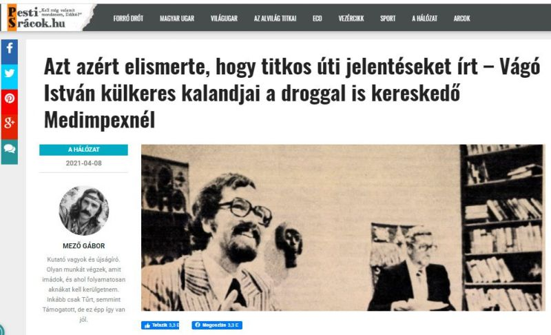 Drogkereskedelemmel vádolja a fidesz közeli média Vágó Istvánt