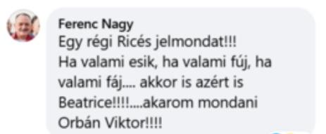 Facebook-posztja alatt hízeleg Orbán Viktornak Nagy Feró