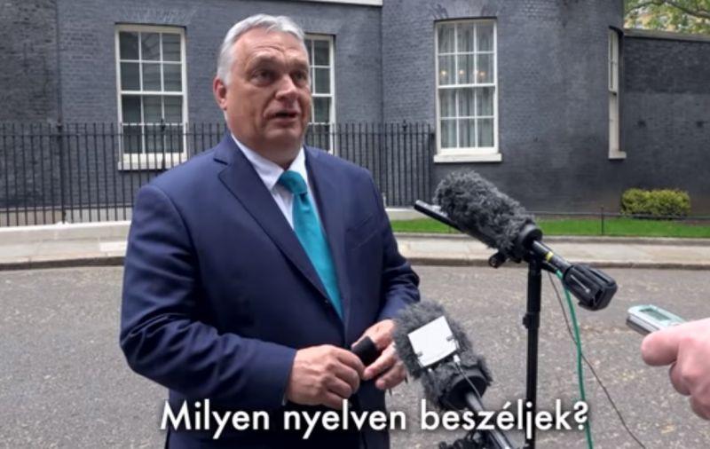 Orbán megvillantotta híres angoltudását – videó