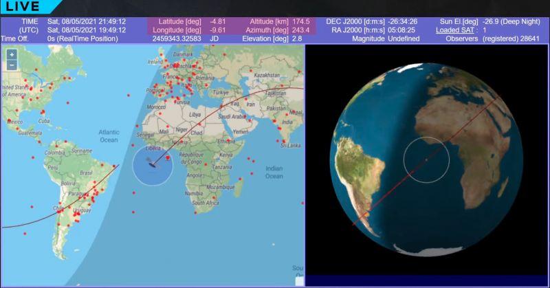Itt nézheti élőben hova fog becsapódni a kínai rakéta – ÉLŐ VIDEÓ