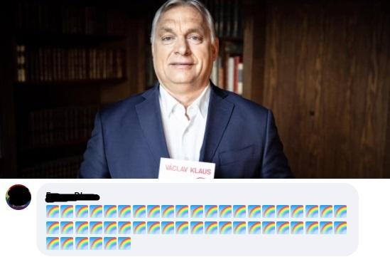 Szivárványos ostrom alá került Orbán Viktor Facebook-oldala