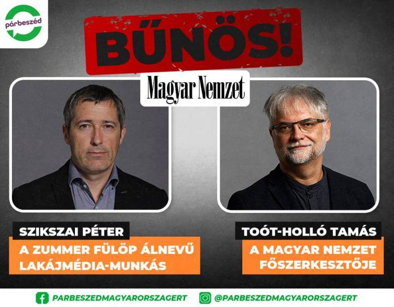 Elítélte a bíróság a kormányközeli Magyar Nemzet két munkatársát, 1-1 év próbaidőt kaptak – ez volt az oka