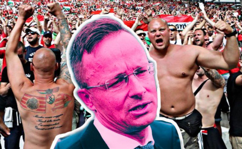 Szijjártó nagyön örül – hazaengedték a német rendőröket dobáló, drogot fogyasztó, neonáci magyar fociultrát