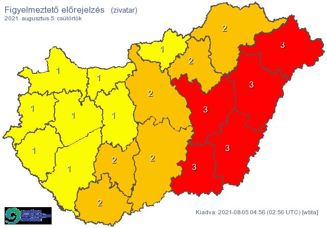 Fokozottan veszélyes időjárási helyzet alakulhat ki rövidesen Kelet-Magyarországon: itt a vörös kód!