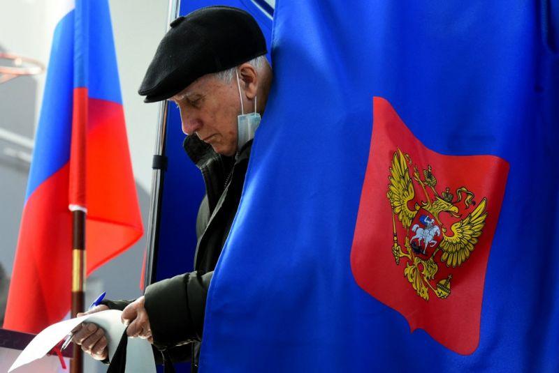 A kormánypárt 45,2 százalékkal megnyerte a parlamenti választást Oroszországban