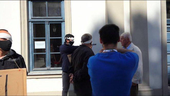 Vádat emeltek a tüntető ellen, aki gázpisztollyal fenyegetőzött Dobrev Klára kampányeseményén