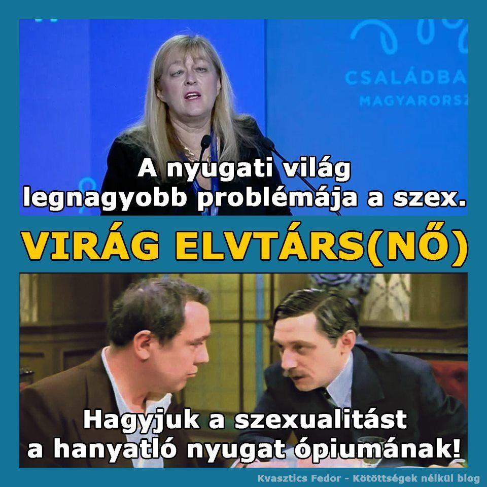 Niilista, sexo neormaxista, imutabilidade de fetos - Mária Schmidt resumida em meme