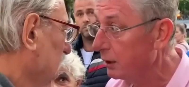 """Videón, ahogy Gyurcsány kioktat egy ellentüntetőt: """"Nagyon gyorsan fogja be a száját, megértette?"""""""