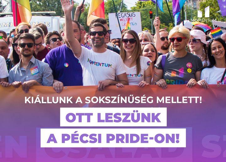 A Momentum ott lesz a pécsi Pride-on