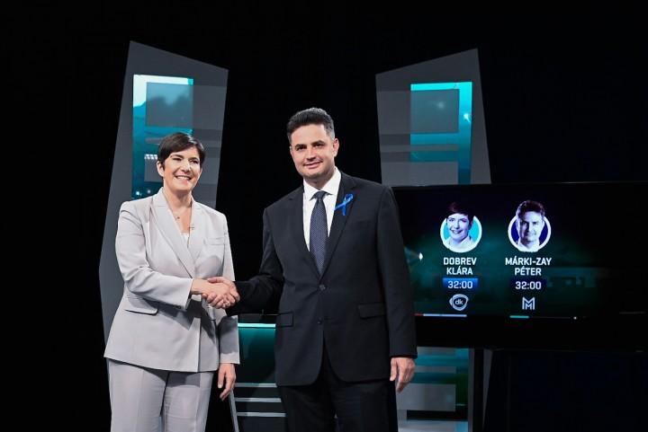 Závecz: szoros versenyben Dobrev nyerte a televíziós vitát