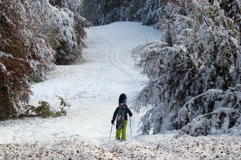 Már akkora a hó a Bükkben, hogy utakat kellett lezárni